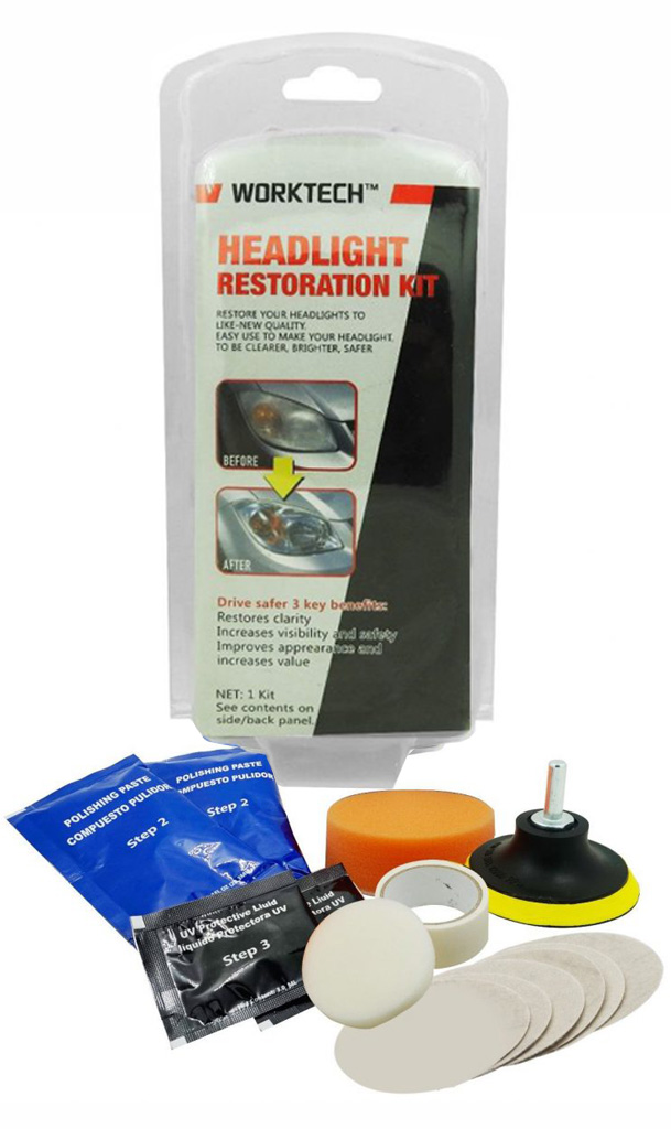 WT 300 Professional Headlight Restoration w/Powered Drill Kit