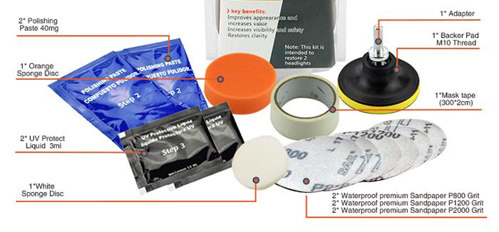 WT 300Professional Headlight Restoration w/Powered Drill Kit – WORKTECH